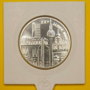 DDR 10 Mark 1974 25 Jahre DDR, Bauten, Stadtansicht Jaeger-Nr. 1552 Silber
