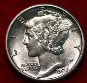 Uncirculated 1929 Philadelphia Mint Silver Mercury Dime