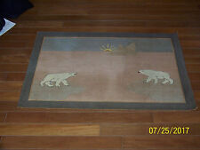"""Large"" Grenfell Rug Handmade in Canadian Labrador Hand Hooked Primitive"