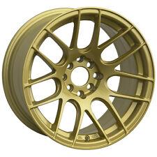 XXR 530 17X7 Rims 5x100/114.3 +35 Gold Wheels Fits Civic Mazda 3 6 TC 2010+