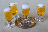 1:12 Scale Single Glass Of Ale Beer Pub Bar Tumdee Dolls House Drink Accessory F