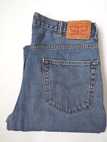 LEVI'S 550 MENS JEANS RELAXED FIT TAPERED LEG W38 L32 MID BLUE # LEVH214