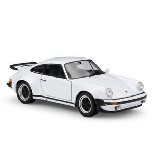 Welly 1:24 1974 Porsche 911 Turbo 3.0 White Diecast Model Sports Racing Car NIB