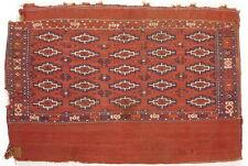 A 19th Century Turkmen Jomud (Jomut) Chuval Grain Bag Kilim.