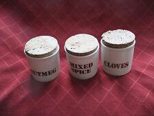 3 vintage 1970s kiln craft spice jars,staffordshire potteries