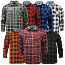 Mens Check Shirt Lumberjack Work Shirt Brushed Flannel Cotton Brave Soul