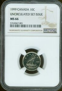 1999 CANADA 10 CENT NGC MS66 DEAL