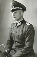 WW2 Picture Photo German Photo Soldier with Sword 3316