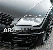 Limited Edition Vinyl Decal Sticker sport racing car hood emblem logo WHITE