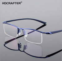 Men Business Rimless Memory Titanium Alloy Glasses RX Optical Eyeglasses Frame
