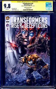 Transformers #19 CGC 9.8 1:10 VARIANT signed by Freddie Williams II NM/MT
