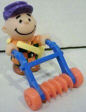 1989 McDonald's Peanuts Charlie Brown Seed Bag N Tiller Happy Meal Toy PVC
