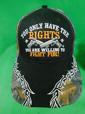 You Only Have The Right Gun Pistol  BASEBALL CAP Bill of Rights Black