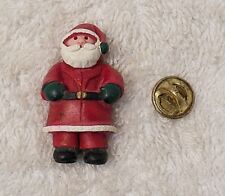 Saint Nick North Pole Sleigh Ch2 Christmas Pin Brooch Santa Claus Kris Kringle