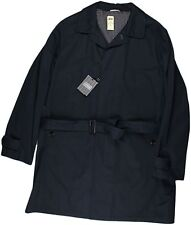 ERMENEGILDO ZEGNA MEN'S NAVY COTTON TRENCH COAT-58/48 US-MADE IN ITALY