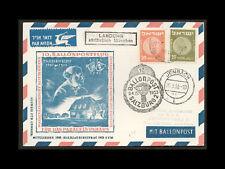 ISRAEL 1953 BALLOON POST ISRAEL-SALZBURG POSTCARD