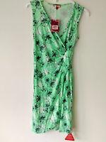 Joe Browns Stretch Viscose Jersey Sleeveless Faux Wrap Dress With Side Ruching