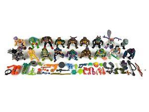 Vintage 1989-90's TMNT Teenage Mutant Ninja Turtles Action Figure & Parts Lot
