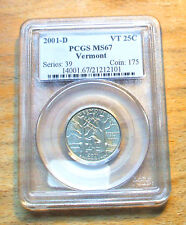 2001 - D PCGS Graded MS67 - Vermont State Quarter