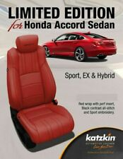 2018 2019 Honda Accord EX Sport Hybrid Sedan Katzkin Red Leather Seat Covers