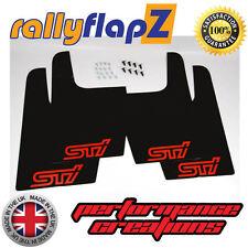 rallyflapz SUBARU IMPREZA WRX STI UNIVERSALE (versione 1) NERO STI rosso 3mm PVC
