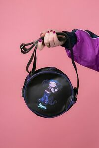 90s black & purple Siouxsie Darkside by Roebuck shoulder bag goth emo deadstock