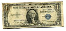 STAR 1935 G SILVER CERTIFICATE MONEY$1 DOLLAR BILL STARNOTE*1895866G NOTE #1365