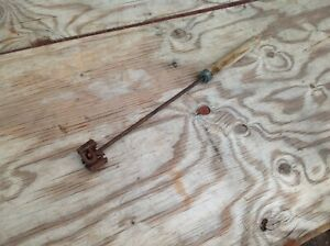 "Antique Hand Forged Branding Iron ""R M W"""