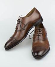 Mint RALPH LAUREN PURPLE LABEL ITALY Denver Brown Leather Oxford Shoes 10 $1250