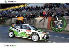 Autogramm, Fabian Kreim - Deutscher Rallye Meister 2016 - Scoda Fabia RS