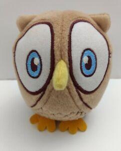 "Celebrate Express Plush Owl 6"" Soft Toy Stuffed Animal Tan Blue Eyes"