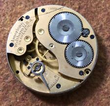 Vintage 1914 Waltham Traveler Model 1908 Pocket Watch Movement 16s 7j Parts USA
