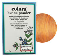 Colora Henna Powder All Natural Hair Color 60g Gold Brown