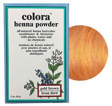 Colora Henna Powder All Natural Hair Color 60g Gold Brown