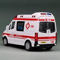 Benz Ambulance 1:36 Model Car Metal Diecast Toy Vehicle Kids Gift Sound & Light