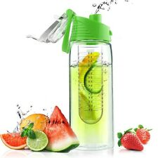 AdNart Pure Flavour 2 Go Plastic Water Bottles Built in Fruit Infuser - Lime