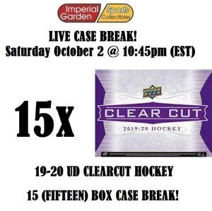 2019-20 UD CLEAR CUT 15 (FIFTEEN) BOX CASE BREAK #2736 - Vancouver Canucks