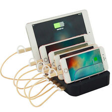 USB Charging Station Multiple Cell Phone 5-Port USB Charger Organizer DURABLE