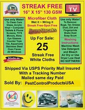 25 Streak Free MicroFiber Cleaning Cloths FREE SHIP Dealer ReSale Kit 5 Packs