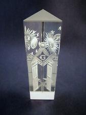 Logen-Glas Prisma m. Freimaurer-Motiv Freemason