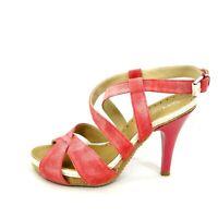 Tentazione Damen Schuhe Pumps Sandalette Sandalen Rot Leder Wildleder Np 219 Neu