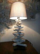 Tisch Lampe Stehlampe Abatjour Treibholz shabby chic Meer Maritim natur Deko