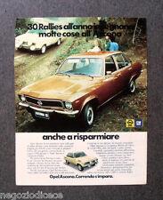 P737 - Advertising Pubblicità -1974- OPEL GM , ASCONA , 30 RALLIES ALL'ANNO.