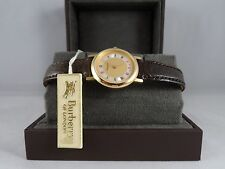 BURBERRY VINTAGE/CLASSIC,LADIES WATCH, INLAID PEARL DIAL CROC STRAP NEW