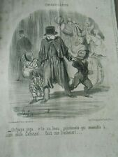 HD 1704 Daumier 1851 Childish things v'here one beautiful polichinelle qui