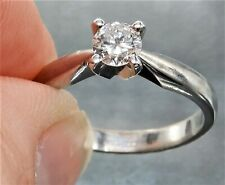 18CT WHITE GOLD 0.35CT DIAMOND  SINGLE STONE  ENGAGEMENT RING  Size N