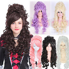 Women Marie Antoinette Rococo French Revolution Baroque Long Curly Cosplay Wig