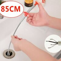 New 85cm Kitchen Sewer Dredging Device Tools Spring Pipe Sink Cleaning Hook