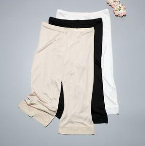 "Women's 50% Silk 20"" Length Lace Pettipants Slip Pants Bloomer Knickers XS363"