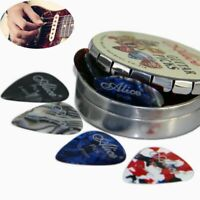 Gifts Round Metal Picks Box Mix Thickness Alice Acoustic Electric Guitar Picks